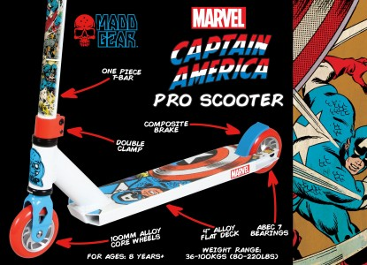 200-126-Marvel Captain America Pro Scooter Packaging